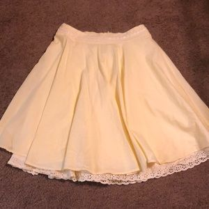 Forever 21 yellow skirt cotton made USA Small